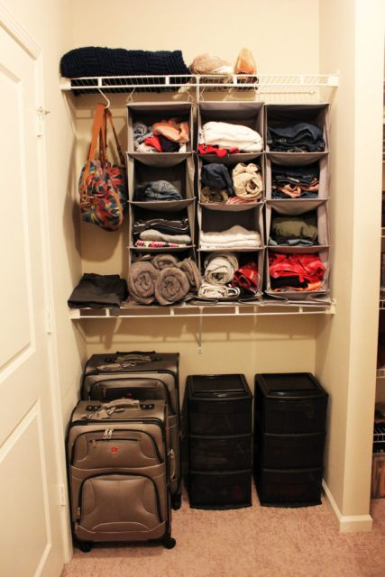 Closet Organization in a rental apartment