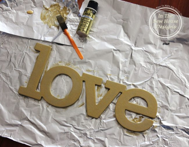 Gold Painted chipboard