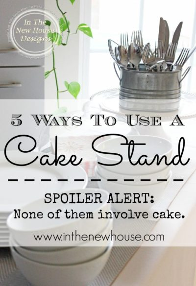 5 Ways To Use A Cake Stand In Your Home via In The New House Designs