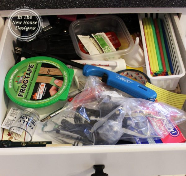 Does your kitchen junk drawer look like this- Here's how to fix it.