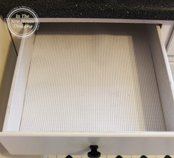 Insert Drawer Liner to keep things from sliding around