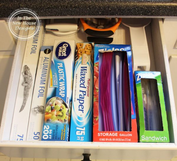 Store lesser used kitchen gadgets in the back of drawers
