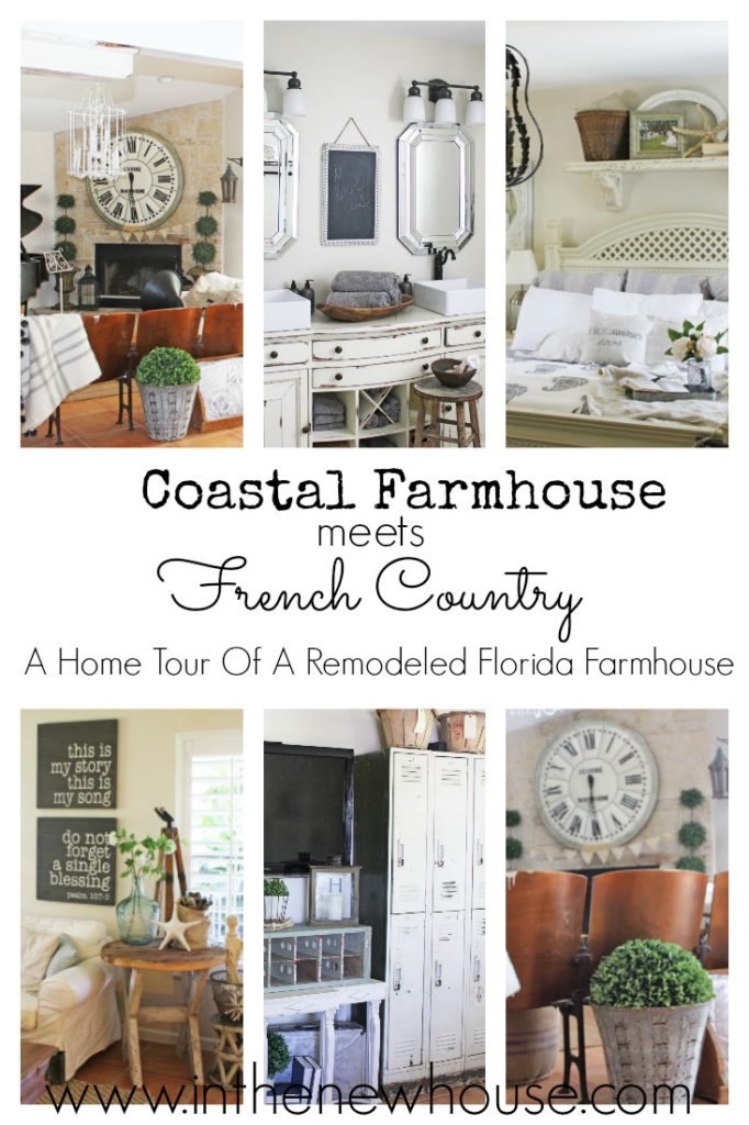 Tour this gorgeous renovated coastal farmhouse decked out with French Country style