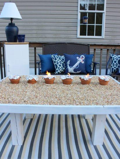 DIY Smores Roasting Table