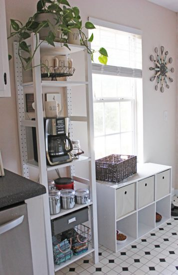 Ikea Ivar Coffee Bar and Cube Storage For Pet Food and Supplies