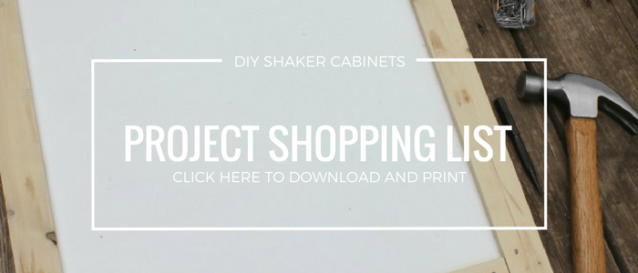 DIY Shaker Cabinet Shopping List