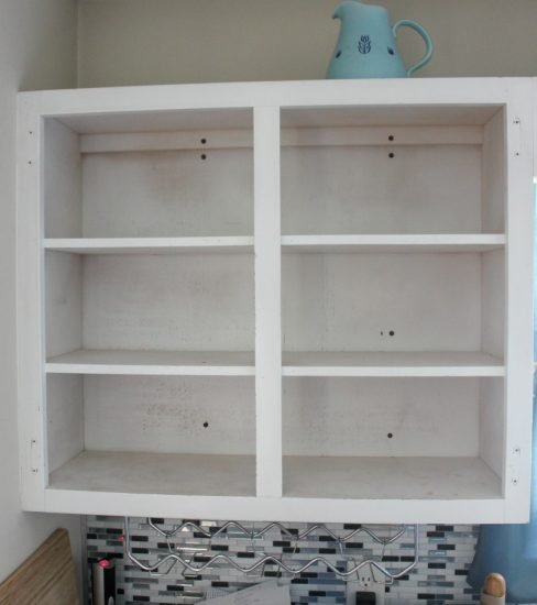 How To Create Open Shelving With Existing Upper Cabinets ...