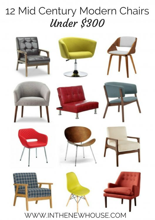 All of these mid century modern chairs are under $300! Links in blog post.