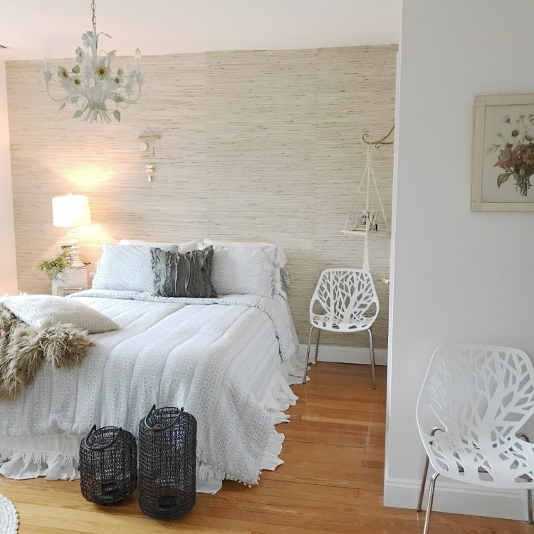 eclectic rustic farmhouse bedroom