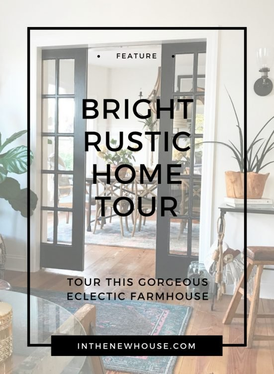 Rustic farmhouse style house with eclectic antique decor