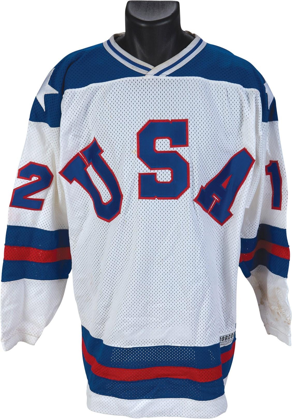 Jack Hughes Team Usa Pre Olympics Game Worn Jersey