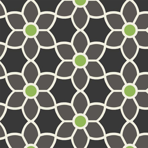 2535-20606 simple space 2 blossom geometric floral wallpaper black green white