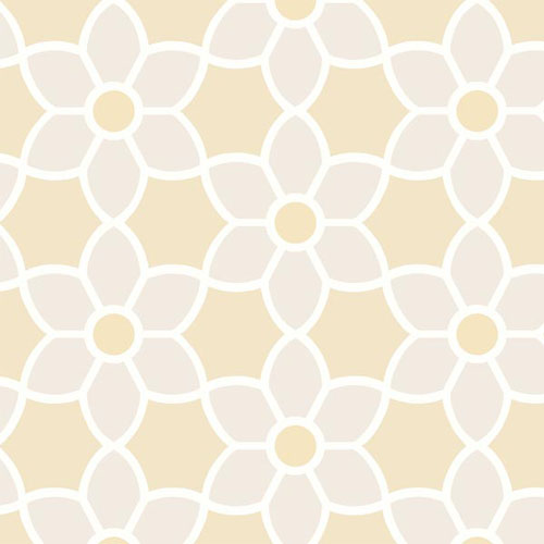 2535-20608 simple space 2 blossom geometric floral wallpaper beige tan white
