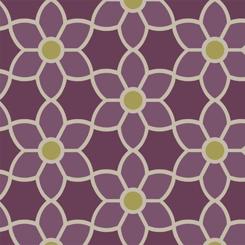 2535-20610 simple space 2 blossom geometric floral wallpaper purple green beige