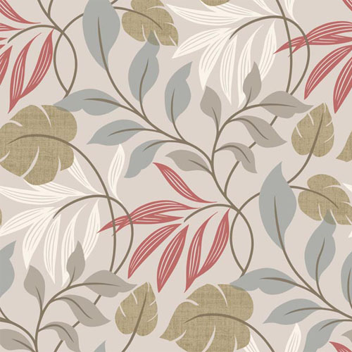 2535-20626 simple space 2 eden modern leaf wallpaper gray red green