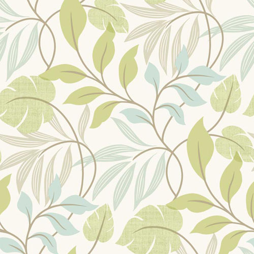 2535-20627 simple space 2 eden modern leaf wallpaper green blue
