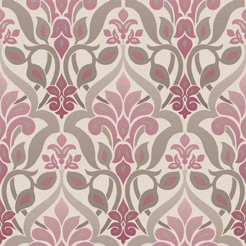 2535-20645 simple space 2 fusion ombre damask wallpaper purple gray beige