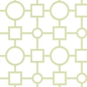 2686-20275 kitchen bed bath 4 geovine geometric lattice wallpaper green white