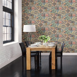 Reclaimed marrakesh tile wallpaper roomset