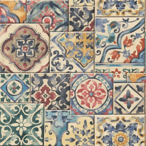 2701-22301 reclaimed marrakesh mosaic tile wallpaper color multi