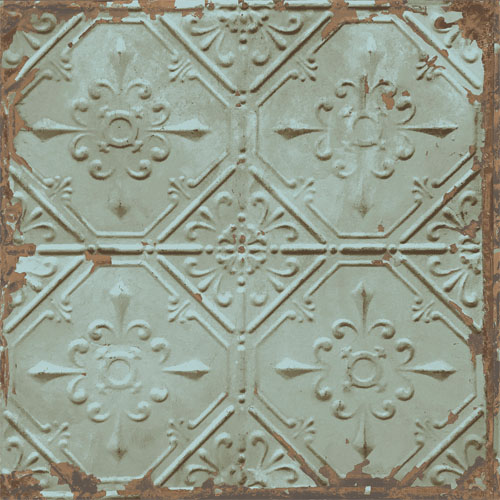 2701-22331 reclaimed distressed tin ceiling tiles wallpaper teal