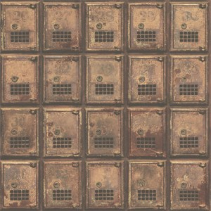 2701-22353 reclaimed vintage po boxes wallpaper rust