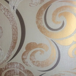 GA30205 gatsby graphic scroll wallpaper metallic copper
