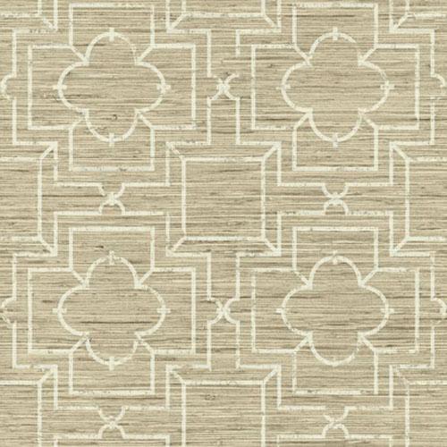 GE3656 ashford geometrics wallpaper irongate trellis beige faux printe grasscloth