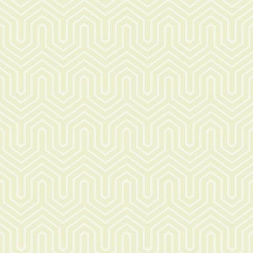 GE3712 ashford geometrics labyrinth flocked wallpaper cream