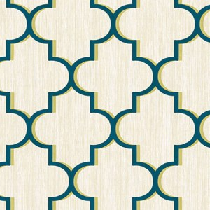 GT20602 geometric seabrook agate trellis wallpaper navy lime