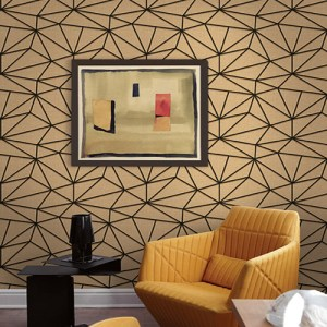 Geometric seabrook quartz graphic wallpaper roomset
