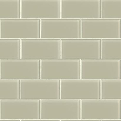 RK4465 urban chic grand central subway tile wallpaper gray