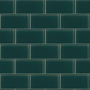 RK4468 urban chic grand central subway tile wallpaper teal