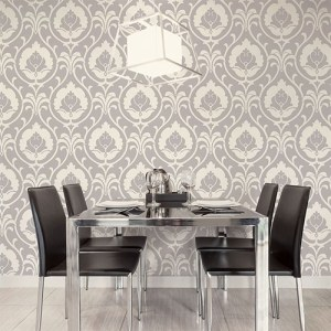 shades ogee damask wallpaper roomset