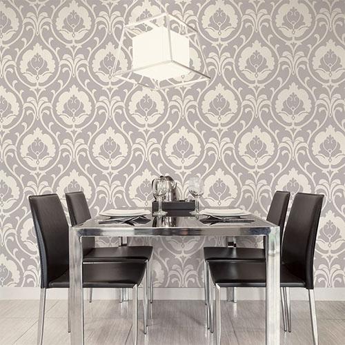 shades ogee damask wallpaper roomset