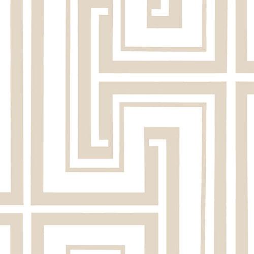 SH34522 shades graphic key wallpaper beige white