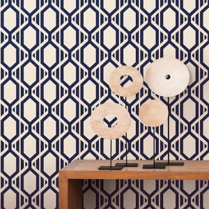 shades graphic harlequin geometric wallpaper roomset