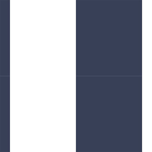 SH34556 shades wide stripe wallpaper blue white