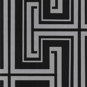 TU27126 shades graphic key wallpaper black metallic silver