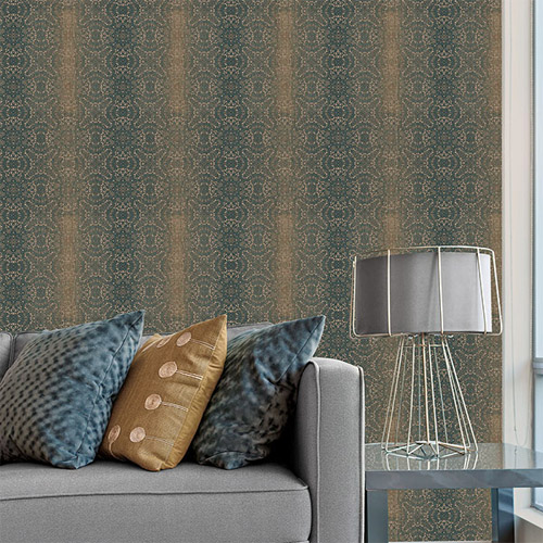 texture style 2 quilted ombre damask wallpaper roomset