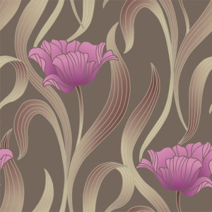 VL214143 obsession van luit libby tulip wallpaper brown purple