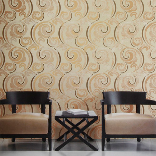 gatsby graphic scroll wallpaper roomset