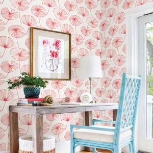 Catalina Paradise Fronds Wallpaper Roomset