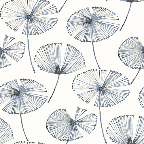 2656-004025 Catalina Paradise Fronds Wallpaper Navy