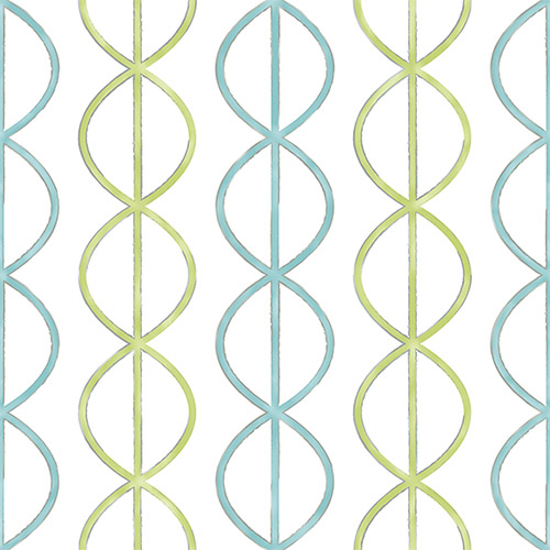 2656-004010 Catalina Banning Stripe Geometric Wallpaper Aqua