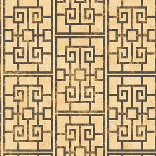 AI40200 Koi Dynasty Lattice Wallpaper Metallic Gold