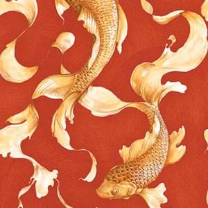 AI40601 Koi Fish Wallpaper Red