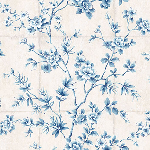 AI41902 Koi Great Wall Wallpaper Blue