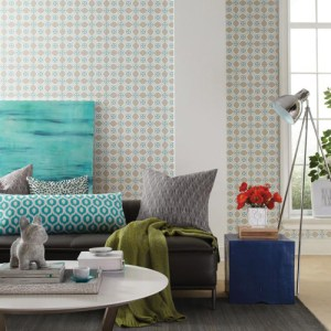 Pattern Play Fox Geometric Wallpaper Roomset