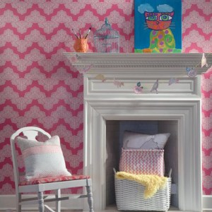 Waverly Kids Airwaves Sure Strip Wallpaper Roomset